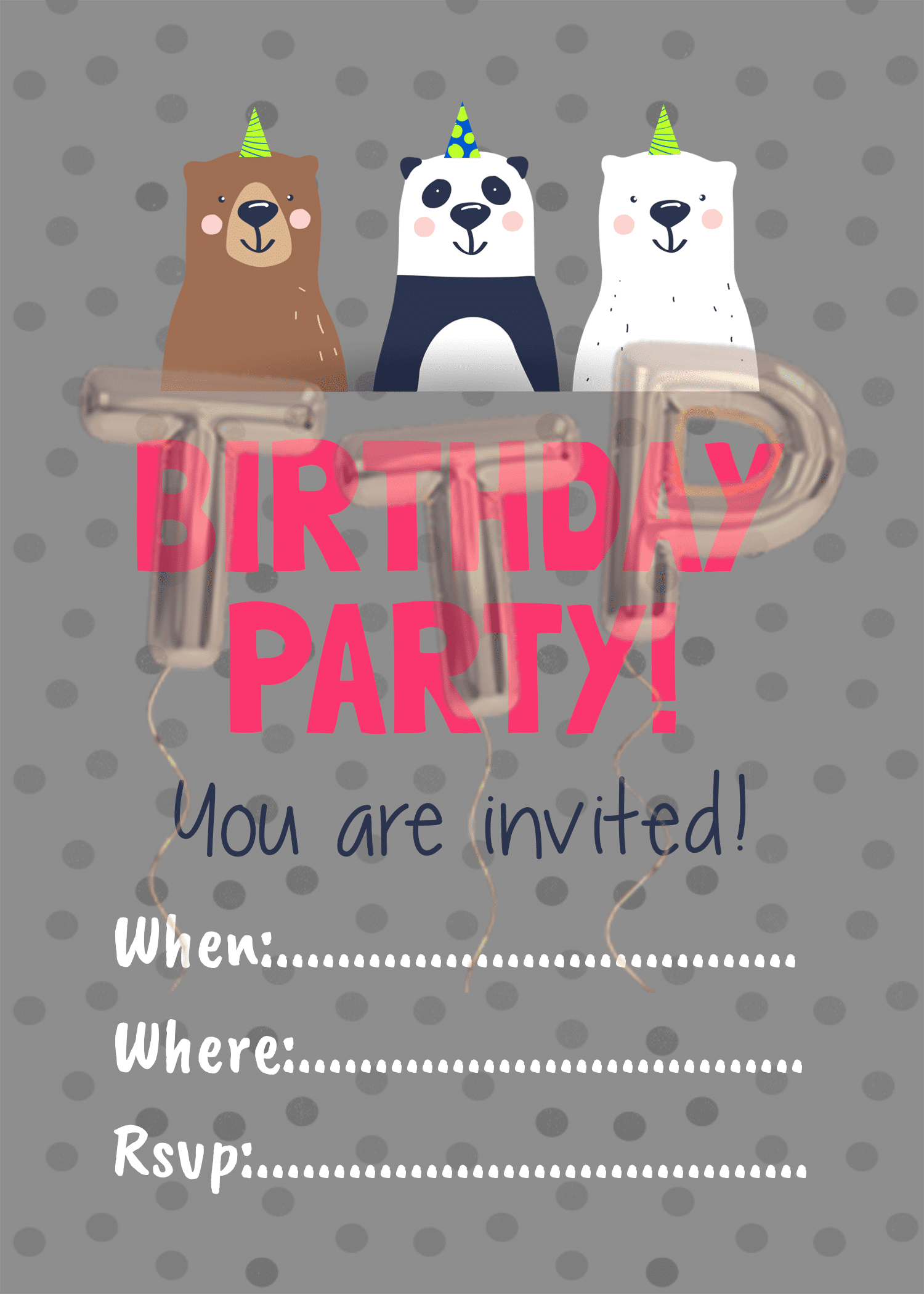 bears gray free download invitation watermark