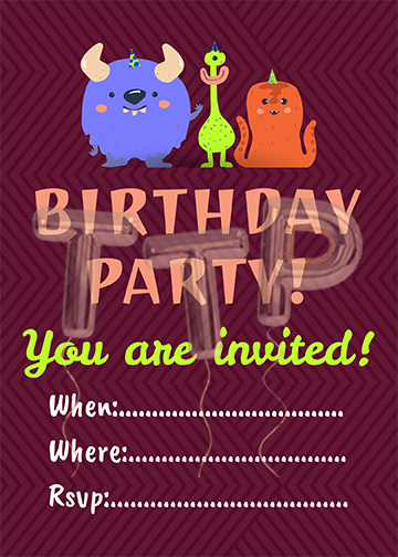 monsters bordoe free download invitation watermark