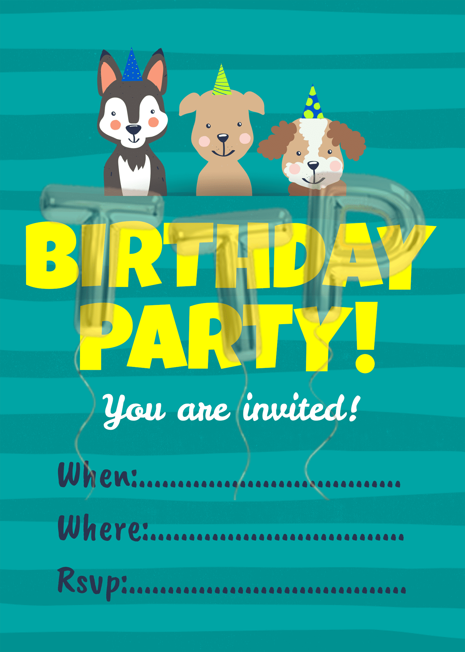 puppies blue BG free download invitation watermark