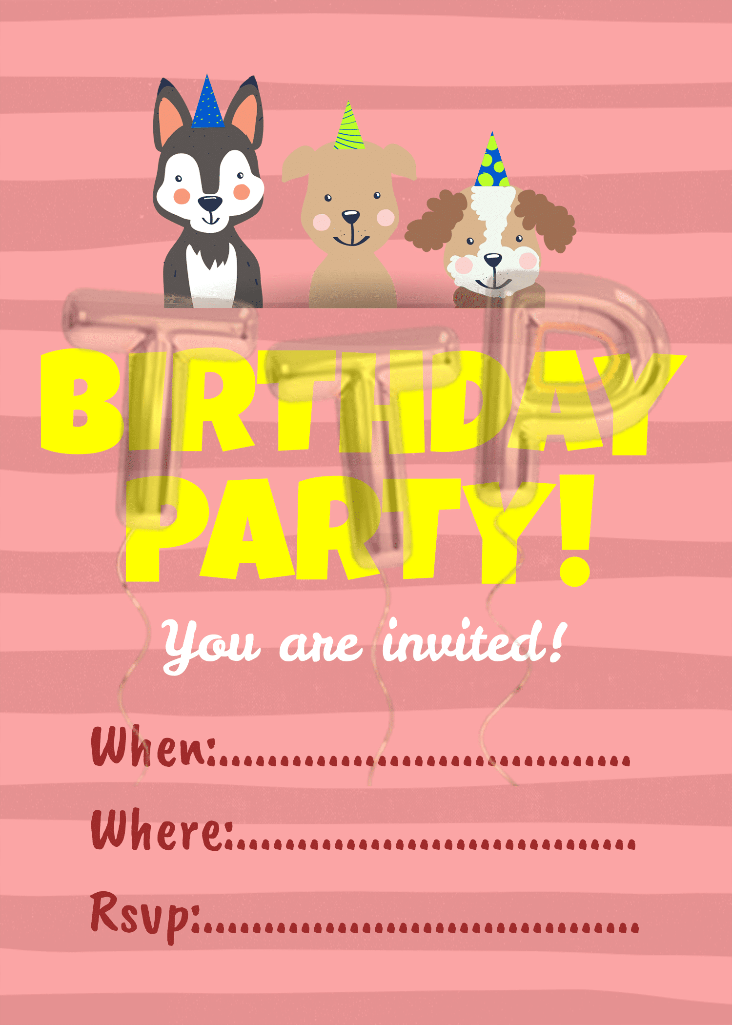 puppies ping BG free download invitation watermark