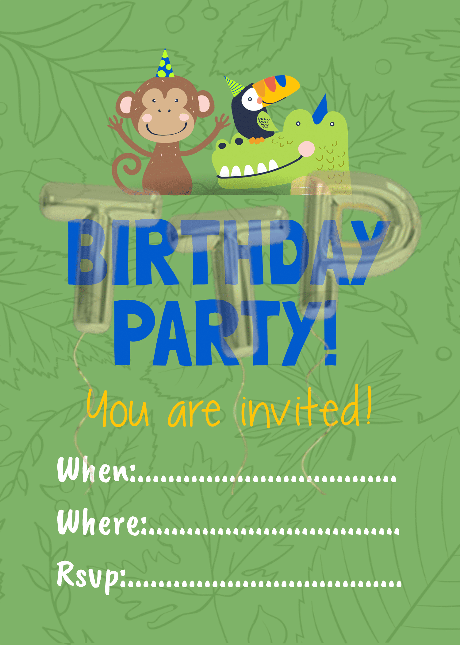 wild-life green free download invitation water mark