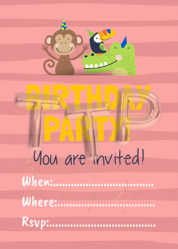 wild-life pink free download invitation water mark