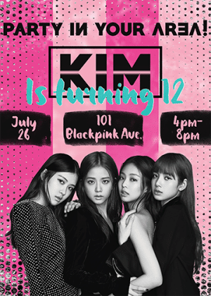TTP-Blackpink-party-invitation-personalized