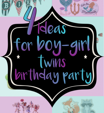 Unique Ideas for a Boy-Girl Twins Birthday Party