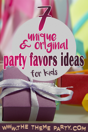Unique & original party favors ideas for kids birthday party